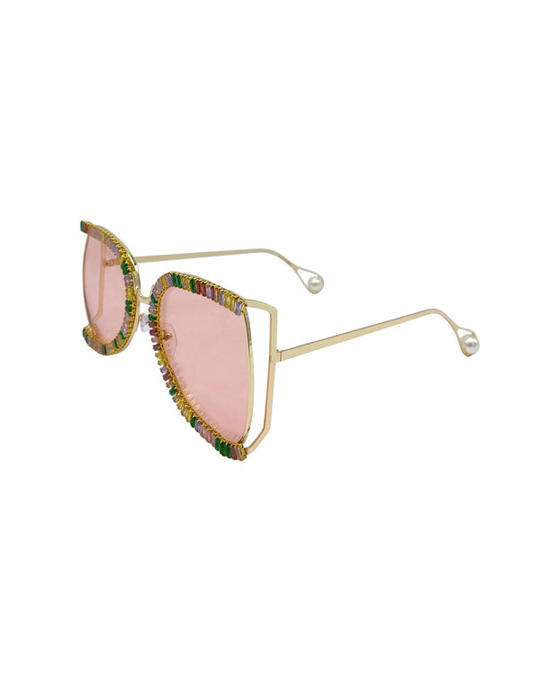 Studio 54 Disco Sunglasses - Gold Multi