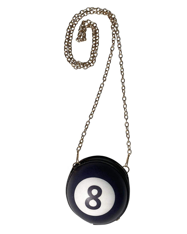 Magic 8 Ball Mini Zip Crossbody Clutch