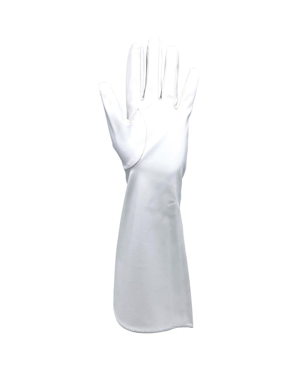 Infinity Faux Leather Gloves - Bright White