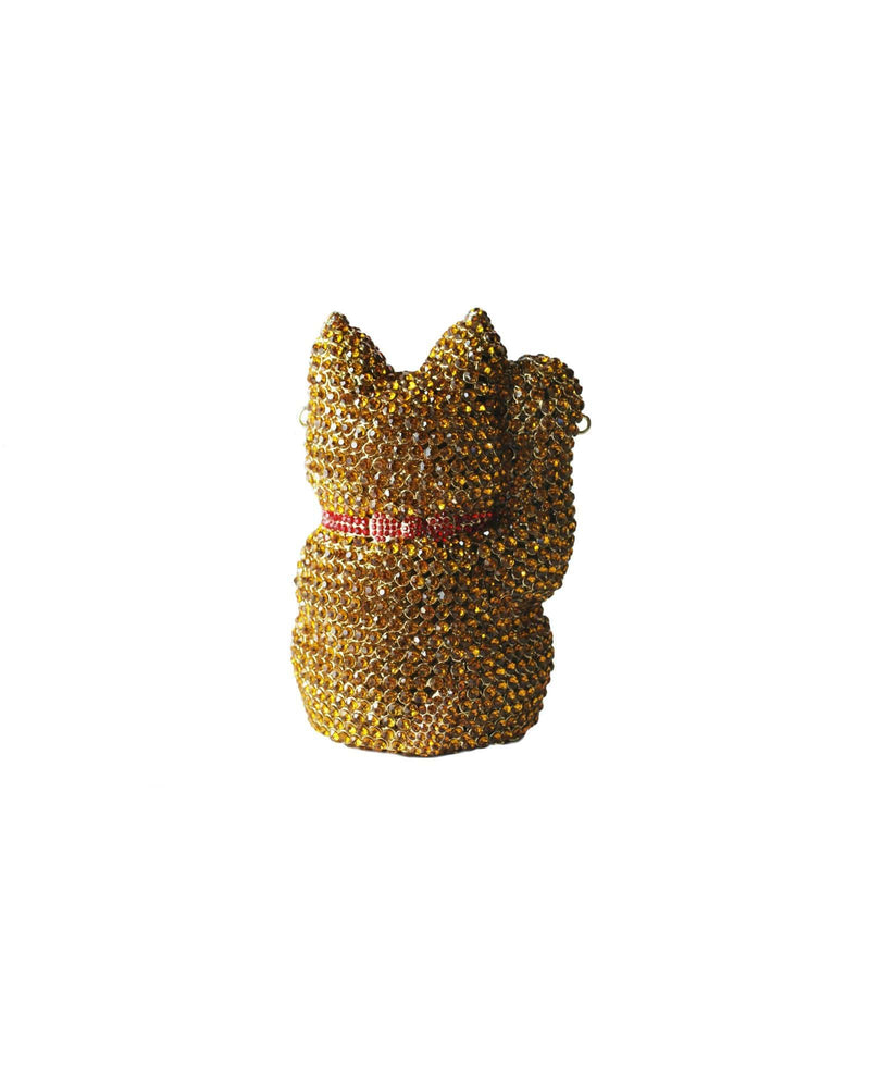 Super Lucky Cat Rhinestone Clutch - Meghan Fabulous