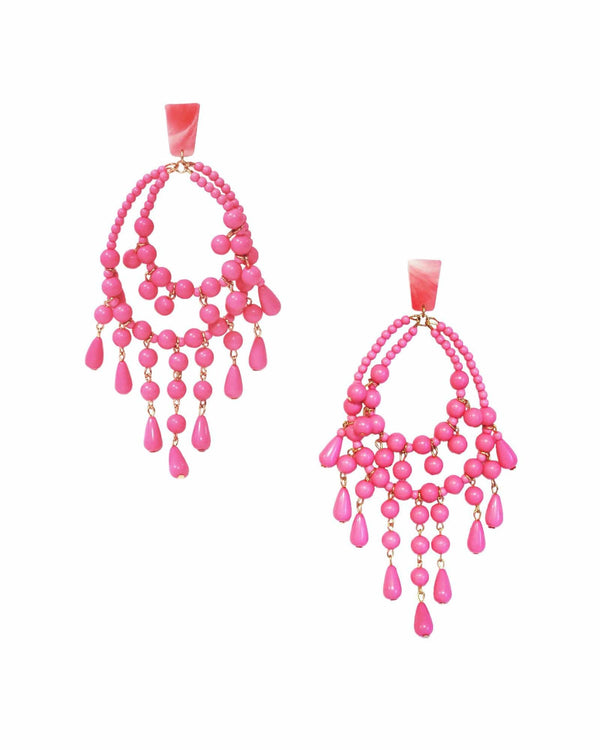 Chiclet Rosita Earrings - Pink - Meghan Fabulous