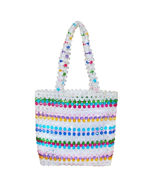 Rainbow Candy Beaded Tote Bag - Meghan Fabulous