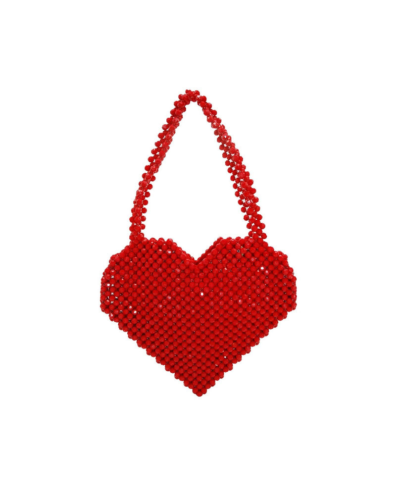 I Love U Beaded Tote Bag - Meghan Fabulous