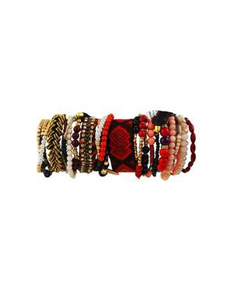 Surfari Bracelet Set - Red Multi