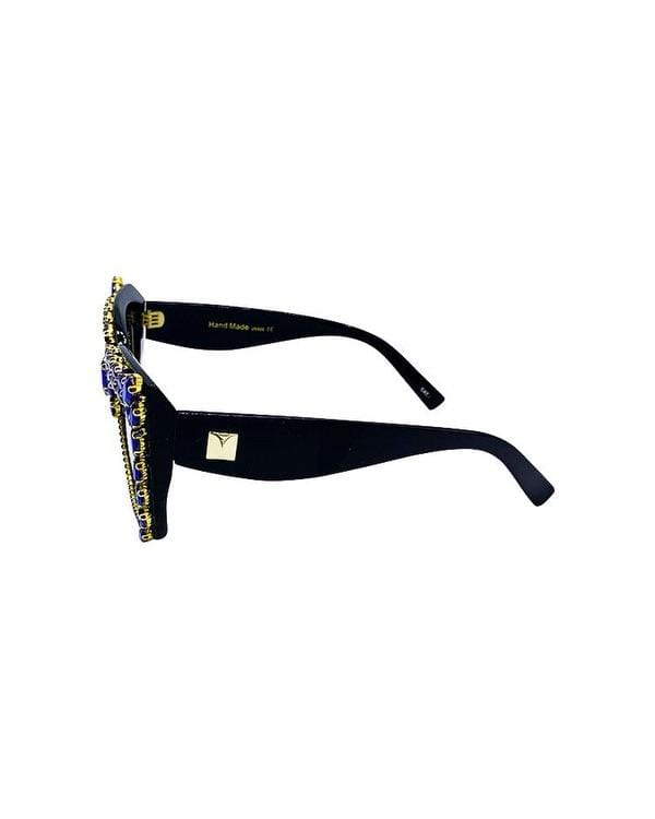 Hot 4 Teacher Bling Sunglasses - Royal - Meghan Fabulous