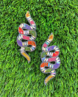 Snake in the Grass Earrings - Multi - Meghan Fabulous