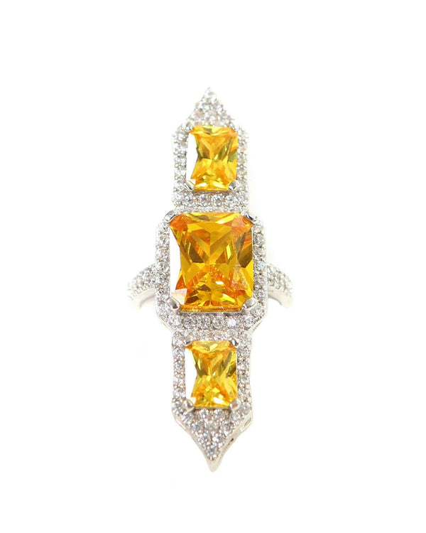 Poseidon Ring - Yellow - Meghan Fabulous