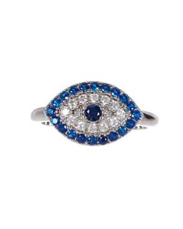 Silver Sparkle Eye Ring - Meghan Fabulous