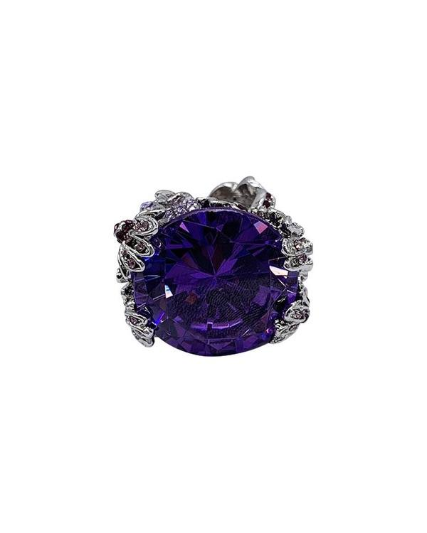 Les Floritas Ring - Purple - Meghan Fabulous