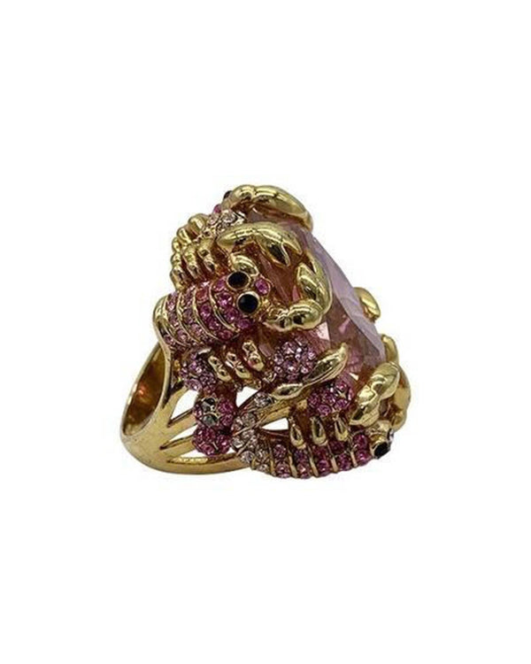 The Scorpions Cocktail Ring - Pink - Meghan Fabulous