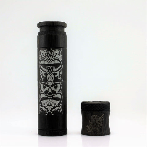 Avid Lyfe Black Aluminum Tiki Able Mod with Tiki  Captain Cap and Sleeve (Authentic)