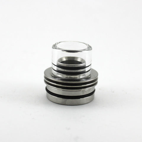 Tobeco 22mm Stainless Steel and Pyrex Chuff Enuff Top Cap/Drip Top Clone