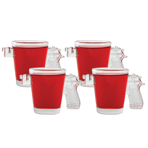 Pistol Shot Glasses Set of 4
