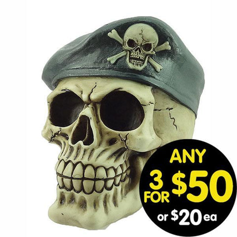 Forsaken Realm Skull With Army Hat S#001