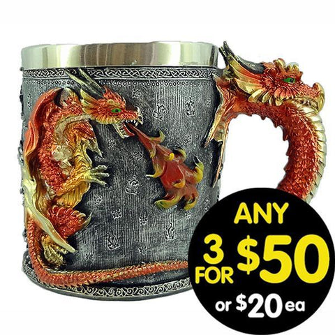 Forsaken Realm Mug Fire Breathing Dragon