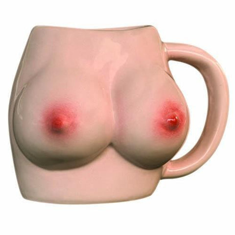 The Monkey Hut Boobs Ceramic Mug