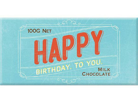 Bellaberry Happy Birthday Star Milk Chocolate 100G