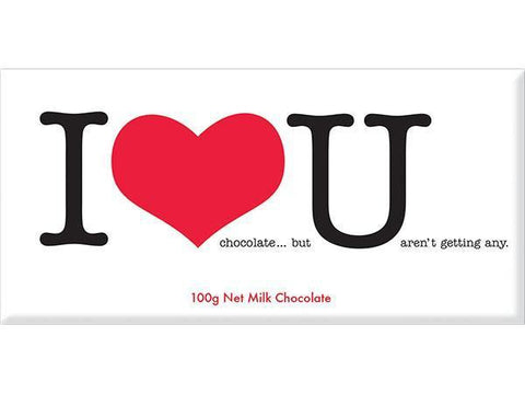 Bellaberry I Love You Milk Chocolate 100G