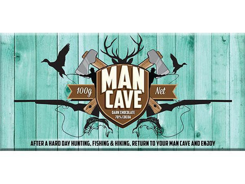 Bellaberry Man Cave Dark Chocolate 100G