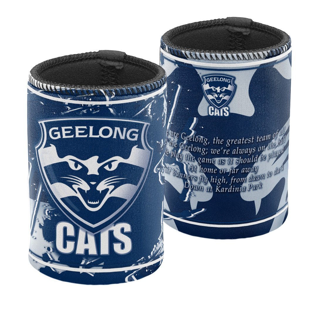 GEELONG CATS TEAM SONG CAN COOLER