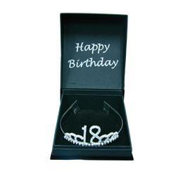 TIARA 18TH BIRTHDAY DIAMANTE WITH GIFT BOX