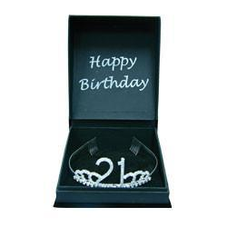 TIARA 21ST BIRTHDAY DIAMANTE WITH GIFT BOX