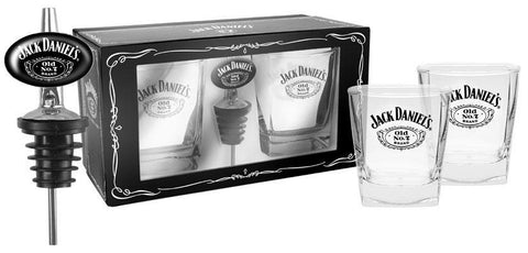 Jack Daniels Gift Pack, 2 Spirit Glasses and Pourer