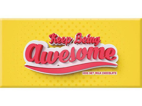 Bellaberry Keep Being Awesome Milk Chocolate 100G