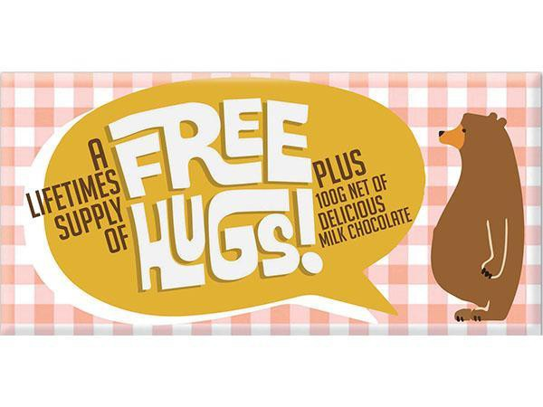 Bellaberry Free Hugs Milk Chocolate 100G