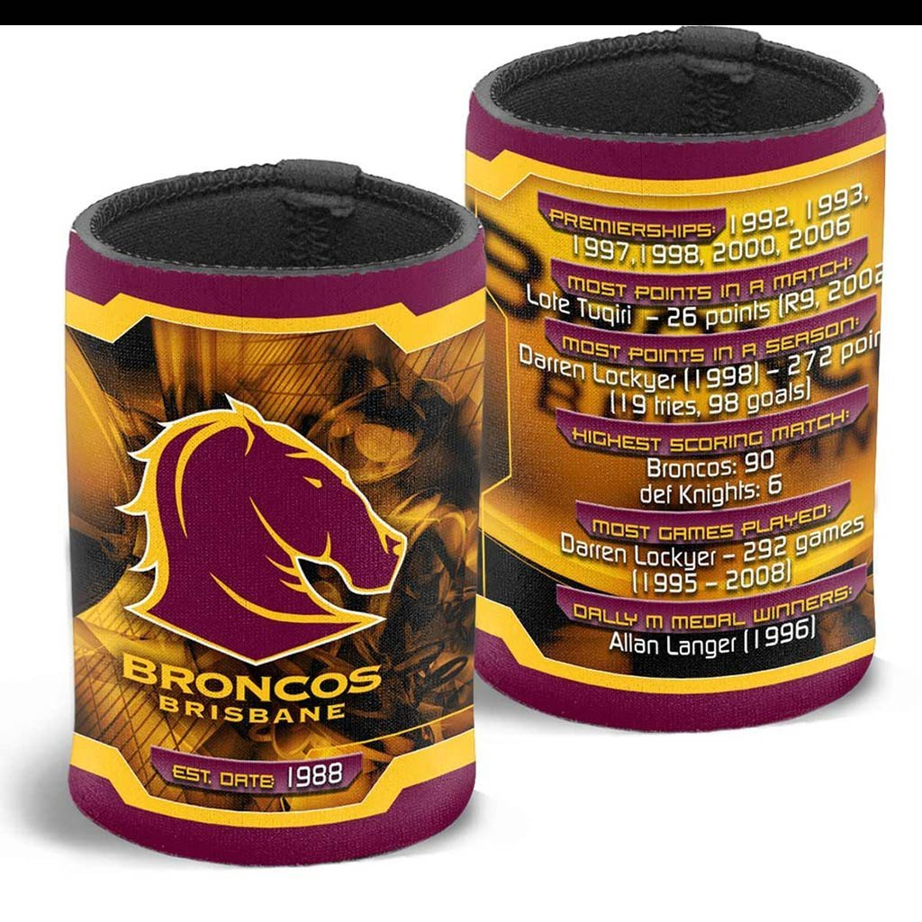 NRL BRONCOS CAN COOLER