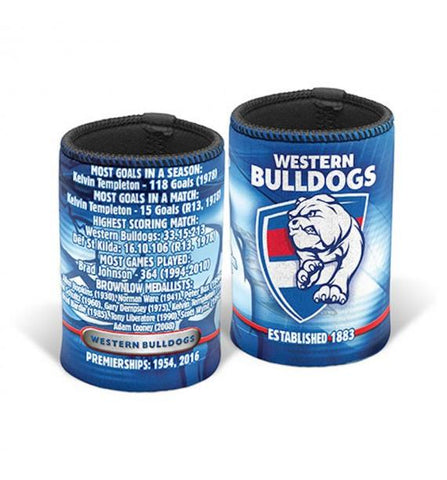 AFL CAN HOLDER HISTORY WESTERN BULLDOGS