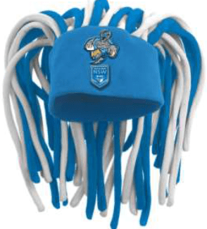 STATE OF ORIGIN NSW DREADLOCK HAT