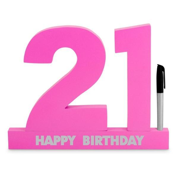 SIGNATURE NUMBER 21ST BIRTHDAY PINK
