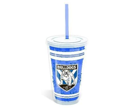 NRL BULLDOGS TUMBLER WITH STRAW