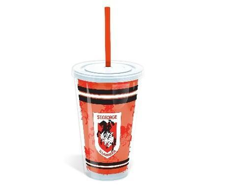 NRL TUMBLER WITH STRAW DRAGONS