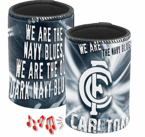 CARLTON BLUES MUSICAL CAN COOLER