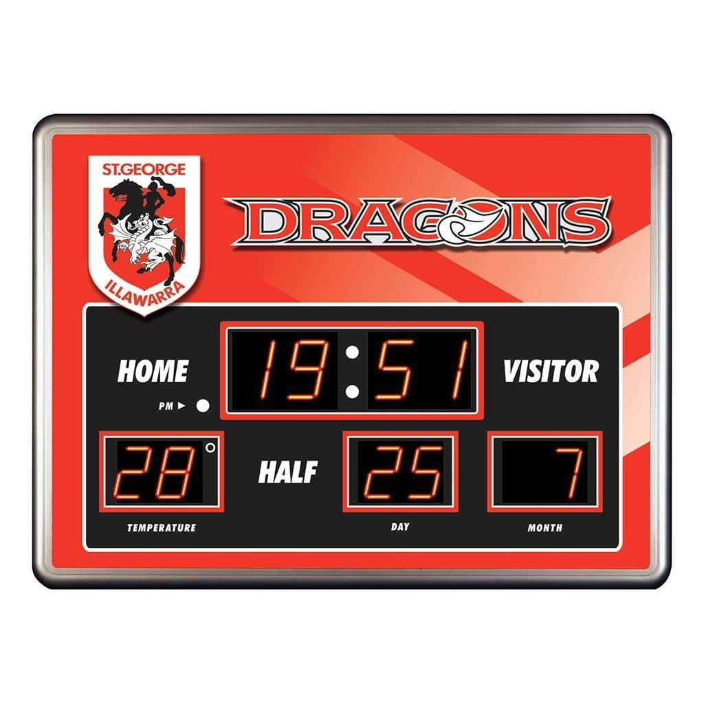 NRL DRAGONS SCOREBOARD CLOCK