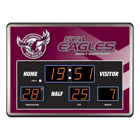 NRL MANLY SCOREBOARD CLOCK