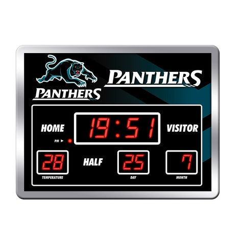NRL CLOCK SCOREBOARD LED PANTHERS