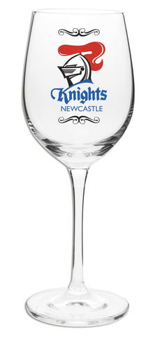 NRL WINE GLASS 470ML KNIGHTS