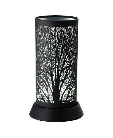 Tree on a White Background Silhouette Lamp