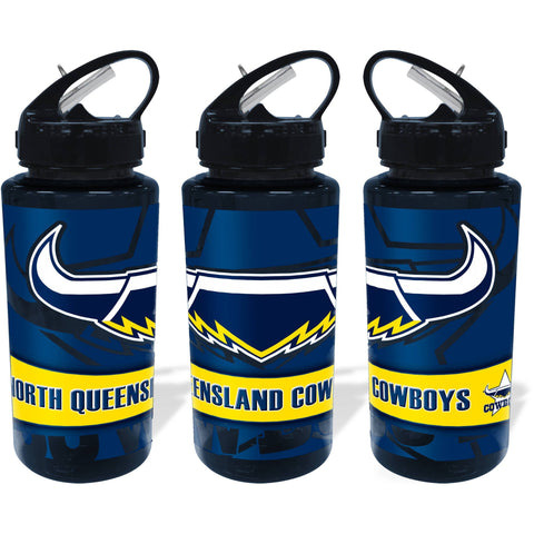 NRL WATER BOTTLE TRITAN 700ML COWBOYS
