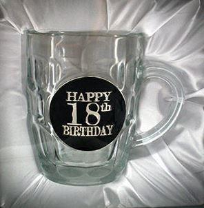 STEIN DIMPLE 18TH BIRTHDAY BLACK BADGE 475ML