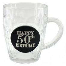 STEIN DIMPLE 50TH BIRTHDAY BLACK BADGE 475ML