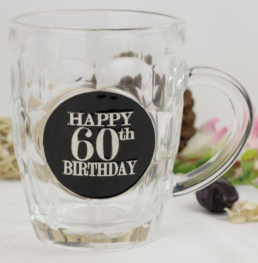 STEIN DIMPLE 60TH BIRTHDAY BLACK BADGE 475ML