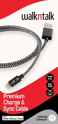 LIGHTNING TO USB CABLE 1M - BLACK