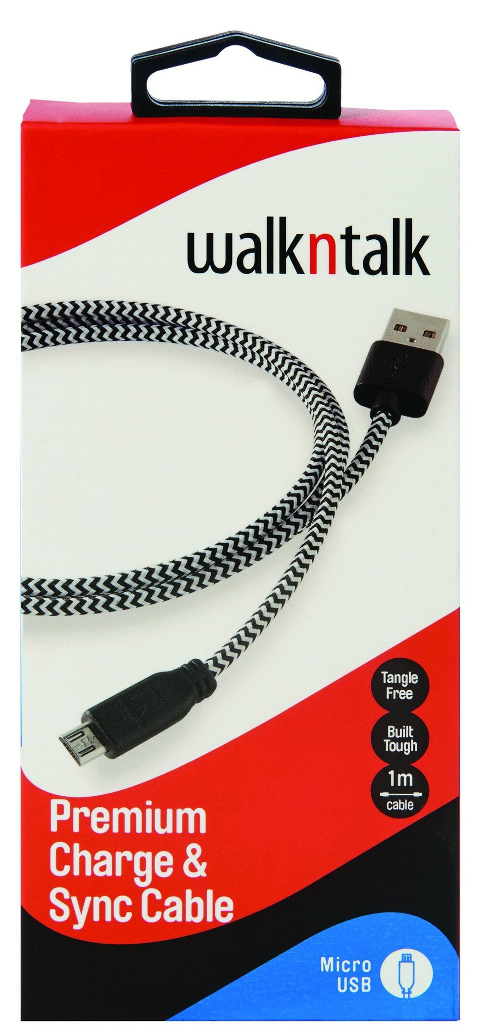 MICRO USB TO USB CABLE 1M - BLACK