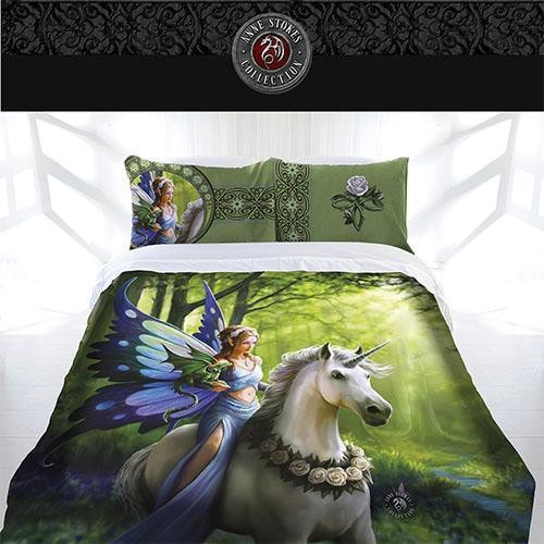Anne Stokes Quilt Cover Realm Of Enchantment Lad Queen