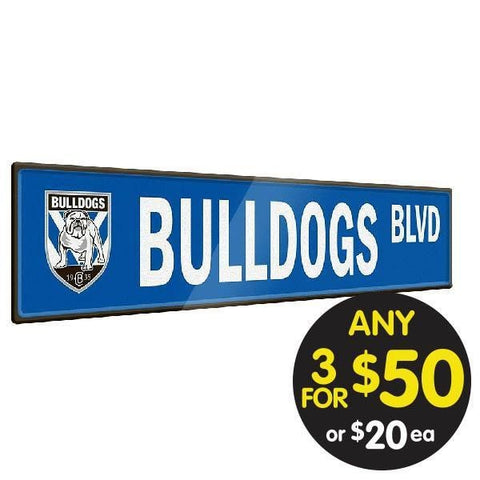 NRL TIN SIGN STREET BULLDOGS