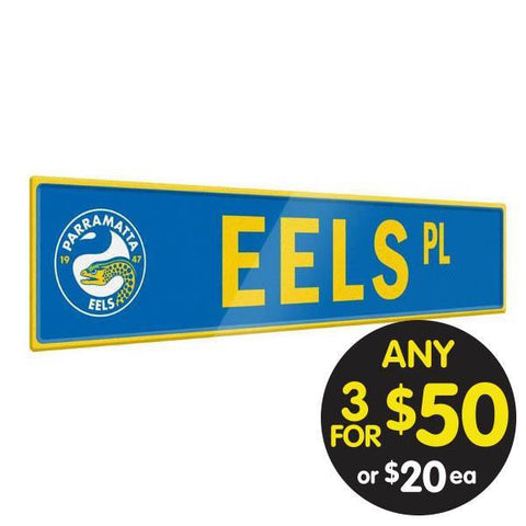 NRL TIN SIGN STREET EELS
